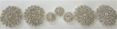 RHS-TRM-1193.  HOT-FIX CRYSTAL RHINESTONE TRIM