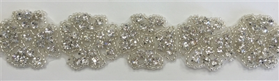 RHS-TRM-1195-LARGE.  HOT-FIX CRYSTAL RHINESTONE TRIM
