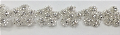 RHS-TRM-1195-SMALL.  HOT-FIX CRYSTAL RHINESTONE TRIM