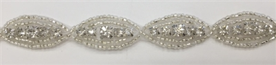CRYSTAL RHINESTONE TRIM - 5/8 INCHES WIDE